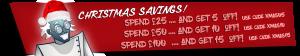 Christmas Savings with up to 15% off!