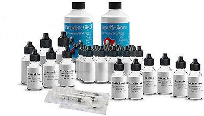Large DIY E LIQUID MIXING kit with 9 sweet / Dessert Flavour concentrates