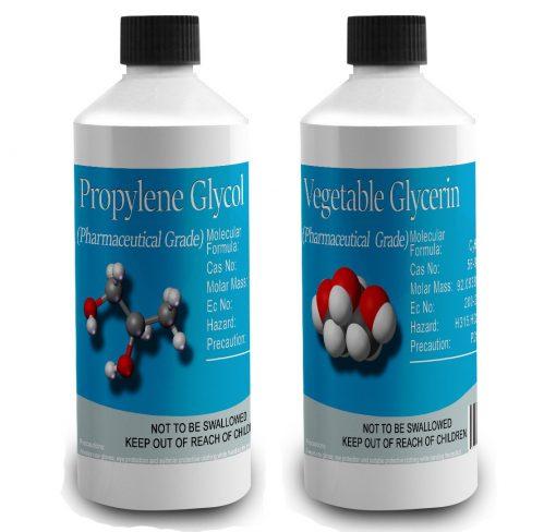 Monopropylene Glycol (PG) & Vegetable Glycerine (VG) Pharmaceutical grade Diluent Pack